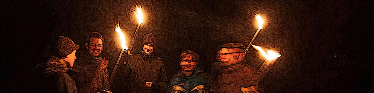 Abenteuer Fackelwanderung im Murnauer Moos